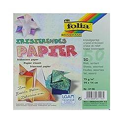 Global Art Folia Irisierendes Origami Papier 6X 650Kg-crystal Prägung