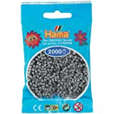 Hama Perlen 501-17 - Cuentas pequeño, gris 2000 piezas [Importado de Alemania]