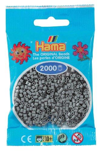 Hama - 501 - 17 - sachet de 2000 perles mini - (petites perles Ø2,5 mm) - Gris
