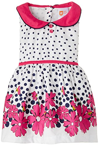 Baby League Baby Girls' Dress (BLS15I72015_White_6-9 months)