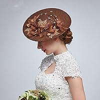 CarShi Fiore Fascinator Cappelli Da Sposa Velo Retrò Sposa Perla Donna Fatto A Mano . Brown
