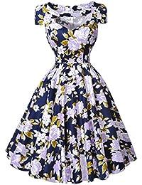 Belle Poque® 50s Vintage Retro Rockabilly Kleid Festliches Kleid Partykleider Cocktailkleider GD000008