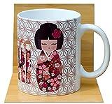 Sakura Kokeshi tazza da tè bianco