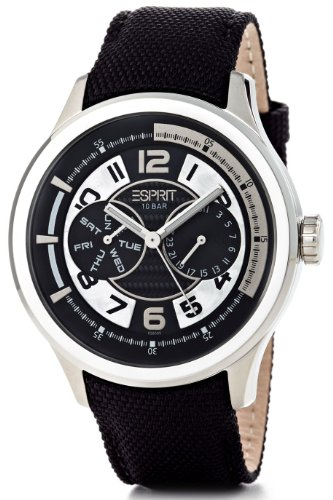 Esprit Men's Watch XL with Black Dial Analogue Display and Black Strap ES102851005