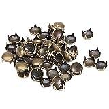 50pcs Round Studs Spots Nailheads 9mm Antique Brass by RYHTHYHTJUYQSD