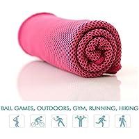 4 x Sporthandtuch Magie Abkühlung Fitness-Studio Kühlendes Handtuch DHL