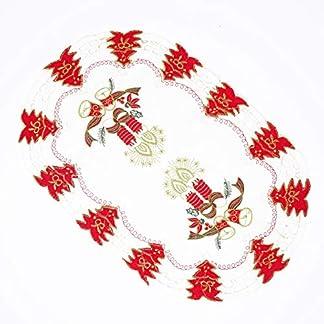 Vinciann decoración de Navidad Mesa Mesa Centro Mesa Centro Centrino 29x 44cm