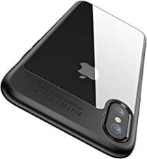 iPhone XS Hülle, iPhone X Hülle, Joyguard iPhone X / iPhone XS Handyhülle [Premium TPU + PC] [Hybrid Transparent] [Shock Proof] [Anti-Kratzer] [Ultra Slim] iPhone X Hülle Transparent - 5.8 Zoll - Schwarz