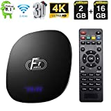 Android TV Box, Android 8.1 TV Box Amlogic S905W Quad-Core Cortex-A53 2Go RAM 16Go ROM Android Box Support 2.4G WiFi Ethernet 4K 3D avec télécommande