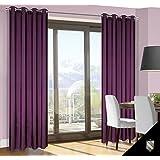 140x245 cm violett lila Pflaume Vorhang Vorhänge Fensterdekoration Gardine Ösenschal purple violet BLANCA