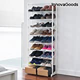innovagoods Schuhregal mit Platz für 30Paar, Acryl, Weiß, 50x 135x 25cm, 6Stück