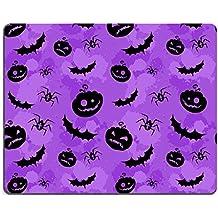 MSD Gaming tapis de souris en caoutchouc naturel d'image: 15233976citrouilles Halloween Chauve-Souris et araignées grungy sans couture