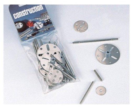 Eitech 00104 - Ergänzungs Metallbauteile - Scheiben mit Achsen und Gewindestifte