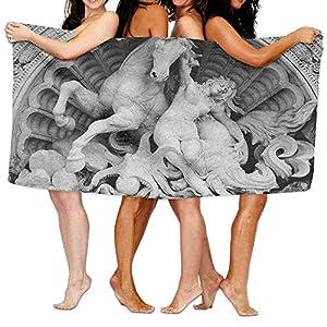 Dutars Divertente Asciugamano sculture a Fatica NINFA con Octopus Conchiglia Cavallo in Una Lunetta Scultura Art in Bologna Morbido Asciugatura Rapida Telo Mare Piscina Asciugamano 30x 50