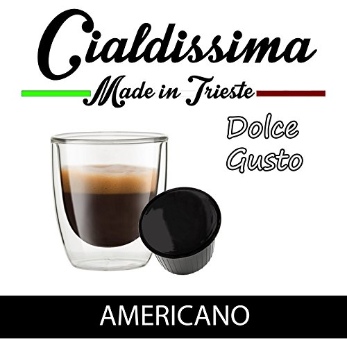 Get Cialdissima Dolce Gusto Caffè Americano, compatible capsules (Total 100 Capsules, 100 Servings) by Cialdissima Dolce Gusto Caffè Americano
