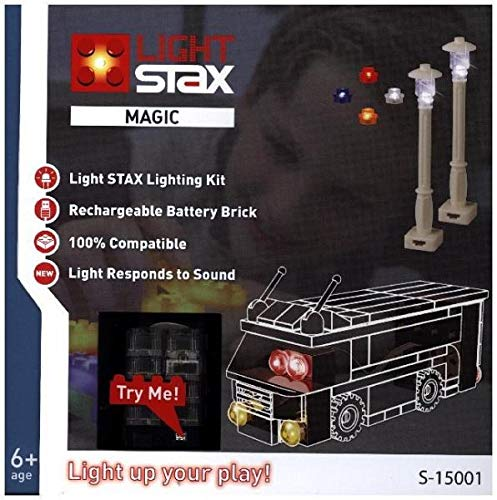 Light Stax S-15001 Set, kompatibel zu Lego, speziell konzipiert, um bestehende Baustein-Sammlungen gezielt mit Licht auszustatten