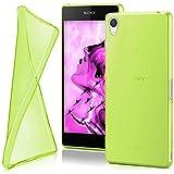 moex Sony Xperia Z2 | Hülle Silikon Transparent Grün Clear Back-Cover TPU Schutzhülle Dünn Handyhülle für Sony Xperia Z2 Case Ultra-Slim Silikonhülle Rückseite
