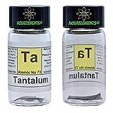 Tantal Element 73 TA, Blatt 1cm 99,99% in Fläschchen aus Glas mit Etikett
