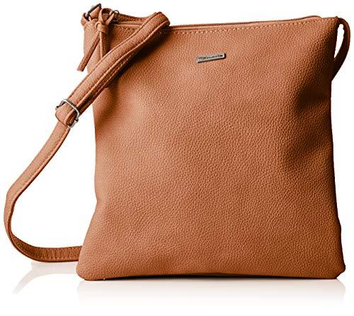 Tamaris Damen Louise Crossbody Bag M Umhängetasche, Braun (Cognac) 1x25x25 cm