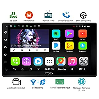 [New] ATOTO A6 Universal 2 Din Android Car Navigation Stereo with Dual Bluetooth - Standard A6Y2710S 1G/16G Car Entertainment Multimedia Radio,WiFi/BT Tethering Internet,Support 256G SD &More