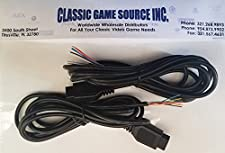 Classic Game Source Inc. Two 6FT 9 Pin Replacement Cable Cord Wires to Repair Amiga CD32 Controller Joystick