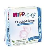 HiPP Babysanft Feucht-Tücher Ultra-Sensitiv 4er,3er Pack (3 x 52 Tücher)