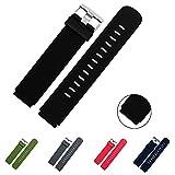 Lamshaw Quick Release Silikon Ersatz Uhrenbänder 18mm, 20mm, 22mm und Wahl von 5 Farben (Schwarz, 18mm)