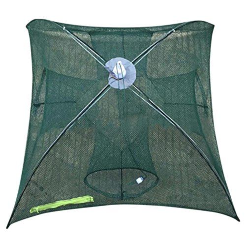 HCFKJ 4-16 Holes Automatic Folding Fishing Net Shrimp Cage Nylon Foldable Crab Fish Trap Cast Net Cast Folding Fishing Network - Zubehör Cast Net