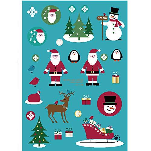 Mitlfuny Gesundheit Und SchöNheitDIY Dekoration 2019,Weihnachtsleuchtende glühende temporäre Tätowierungs-Aufkleber-Wasserdichte Mitbringsel