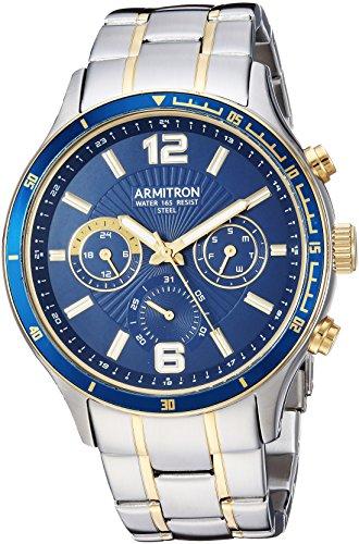 Armitron Men's 20/5247NVTT Multi-Function Dial Two-Tone Bracelet Watch image