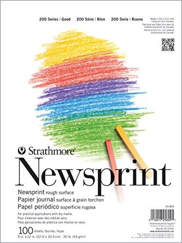Strathmore 200Series Rough Tape Bound Newsprint Pad, 45,7x 61cm