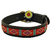 Zinj Design Mombasa Hundehalsband, Größe S, Rot