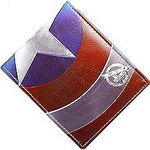 Marvel C¨®mic Capit¨¢n Am¨¦rica Escudo Logo Billetera doblada de cuero de aspecto (caja de regalo incluida)