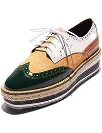 KJJDE Zapatos con Plataforma Mujeres WSXY-A2919 Sneakers Wedges Correa De Sujeción Proceso de Costura de Cuero