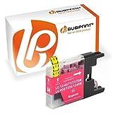 Bubprint Druckerpatrone kompatibel für Brother LC-1220 LC-1240 LC1220M LC1240M für MFC-J430W MFC-J5910DW MFC-J6510DW MFC-J6710DW MFC-J825DW Magenta