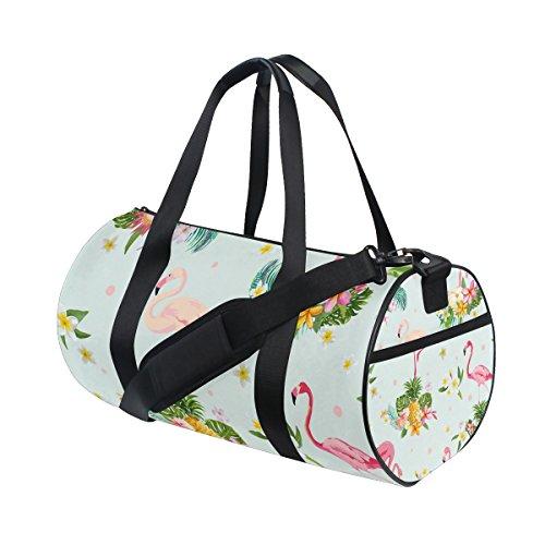 COOSUN Flamingo-Vogel-Duffle Tasche Schulter Handy-Sport Gym-Taschen für Männer und Frauen Mittel Mehrfarben