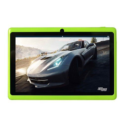 YUNTAB 7 Inch Tablet PC, Kids Tablet with Android 4.4 OS,8GB ROM+512MB RAM,Quad-core 1.5GHz Processor,1024*600 Display,Google Play Pre-loaded, Support WIFI&Bluetooth(green)