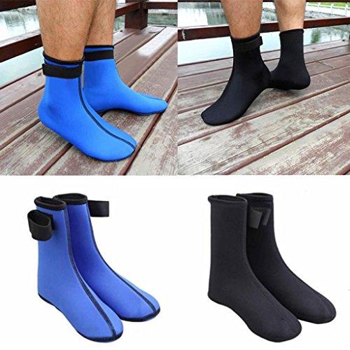 iusun New 3mm Neopren Tauchen Scuba Surfen Schwimmen Socken Sport Wasser Schnorcheln Stiefel S schwarz