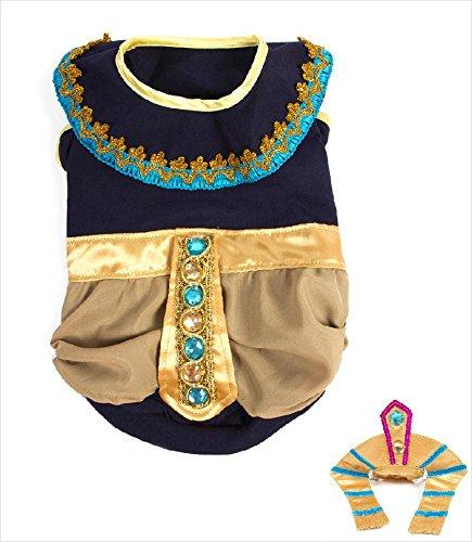 Puppe Love King Mutt Deluxe Pharao Kostüm für Hunde, Size 5 (14