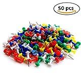 Sungpunet, mini puntine, in plastica, colori assortiti, 50 pezzi, per bacheca in sughero