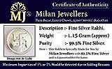 Milan Jewellers 99.5% Fine Silver Swastik Rakhi