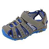 YWLINK Sandalias Deportivas NiñOs Zapatos para NiñOs Punta Cerrada Verano Playa Sandalias Zapatos,Zapatillas Antideslizante Fondo Blando Casuales(Gris,21EU)