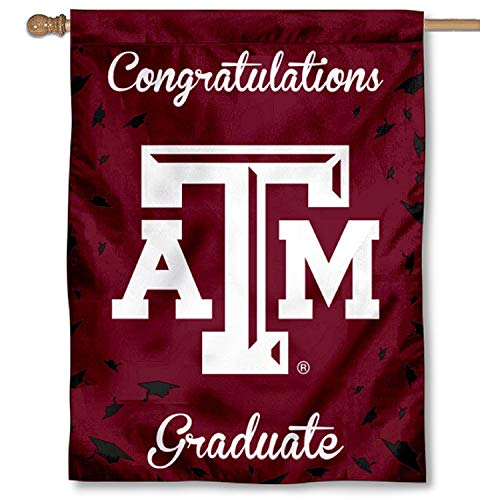College Flags and Banners Co. Texas A&M Aggies Graduation Geschenk Banner Flagge -