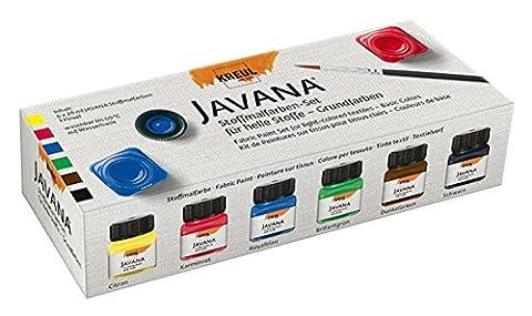 JAVANA 90600Filtre à–Kit de peinture sur tissu, 6couleurs x 20ml