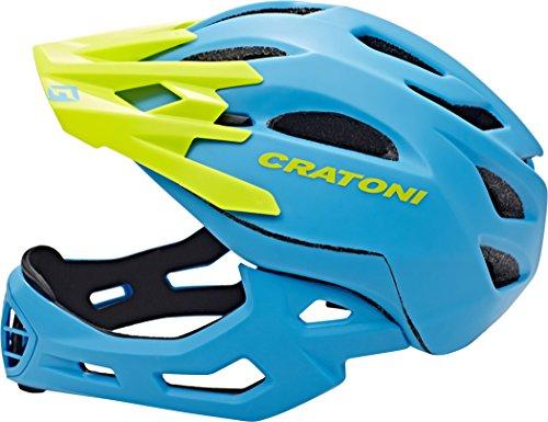 Cratoni Fahrradhelm C-Maniac, Blue/Lime Matt, 58-61 cm, 112406B3 - 3