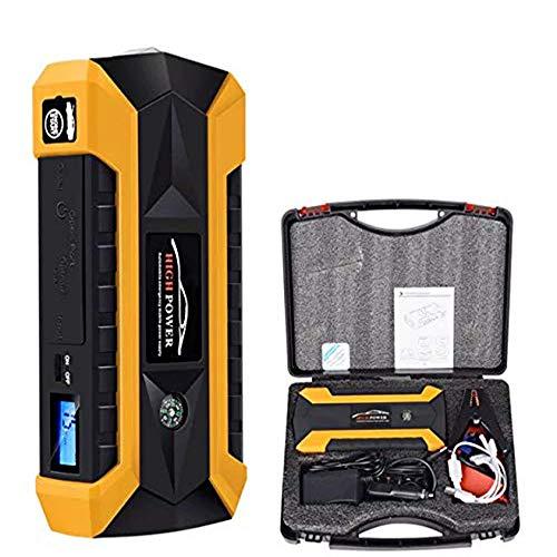 BEATIT B9 600 A Aide au d/émarrage de Voiture Jump Portable jusqu/à 5,5 l Essence, 4 l Diesel Pack Powerbank Jaune
