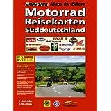 Motorrad Reisekarten: Süddeutschland - 1:300.000
