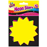 Artbox 10x10cm Fluorescent Stars (Pack of 40)