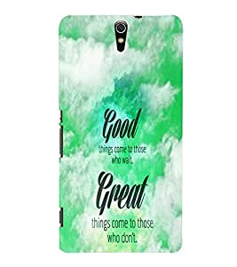 Fuson Great Quote Case Cover for Sony Xperia C5 dual