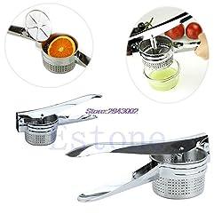 Stainless Manual Puree Steel Juicer Potato Vegetable Fruit Masher Ricer APR10
